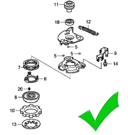 Honda HRB425 HRB476 RotoStop Blade Brake Clutch BBC Kit further View Honda Parts Catalog Detail as well Ignition further Volvo Wiring Diagram S40v40 2004 as well Starting. on honda parts diagram