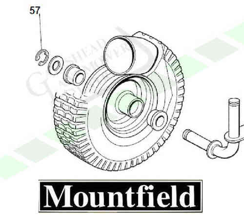Mountfield 725m + 725v Front Wheel Circlips (Pair Of)