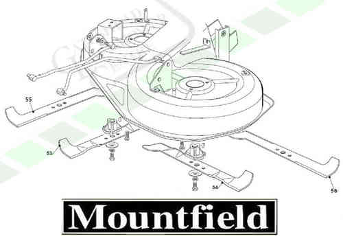 "Mountfield 1436m + 1436h + 1636h ""Combi"" Blade - (Right)"