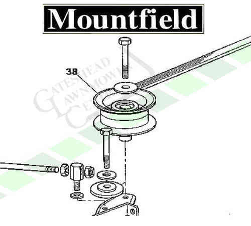 Mountfield 1228m + 1228h Idler Pulley (Cutter Deck)