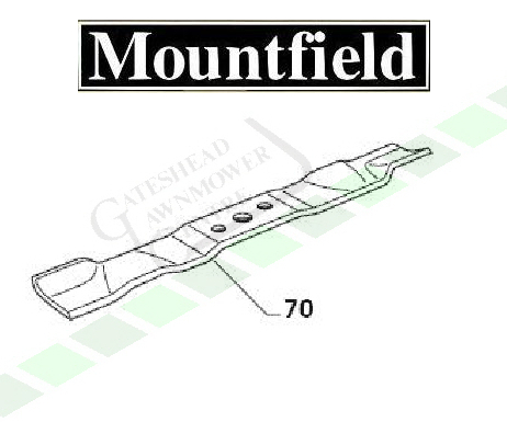 Mountfield 1430m + 1430h Mulching Blade - Right Hand