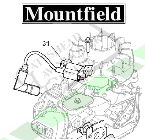 Mountfield Ignition Coil RS100 / RSC100 / RSCT100 Engines