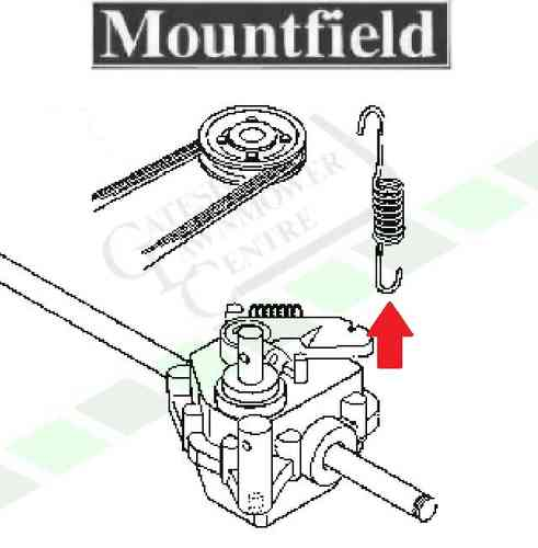 Mountfield Gearbox Tension Spring SP454 + SP534 + SP536