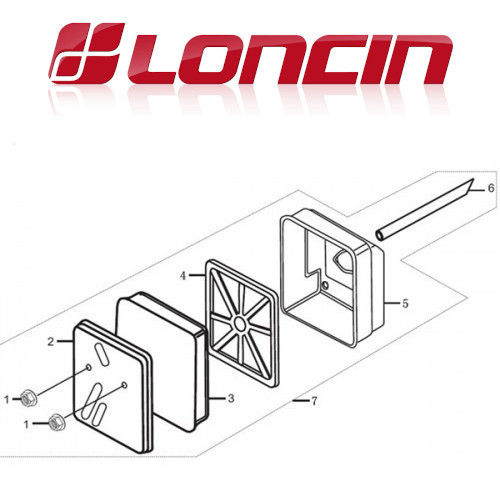 Loncin LC152F Air Filter Assy