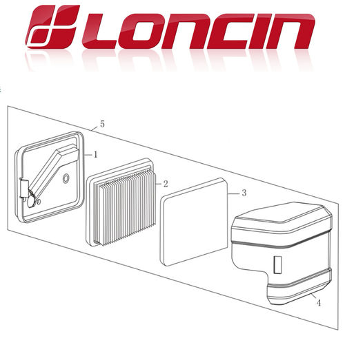 Loncin LC1P61FA 140cc Air Filter Assy
