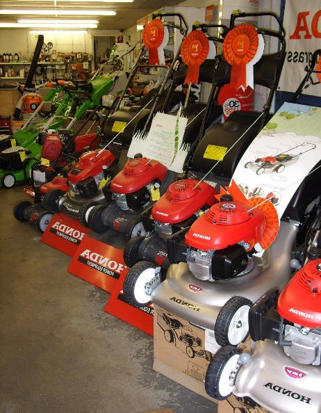 Fully Stocked Lawnmower Showroom